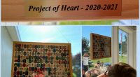 """Today we unveiled our """"Project of Heart"""" legacy piece. Each child created a tile to remember and honour those impacted by the residential school system.  #everychildmatters #projectofheart"""